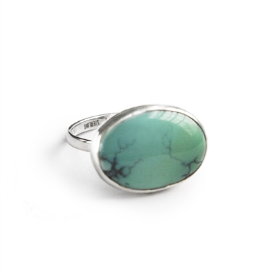 Horizontal Ring in Turquoise