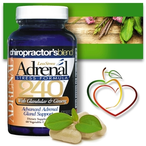 Adrenal 240 Less Stress Formula, <br>Helps Support Healthy Adrenal Glands!
