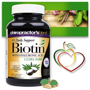 <strong>New!! Biotin 10,000mcg Liquid Capsules<strong><i>with Pure Organic Coconut Oil </strong><br>
