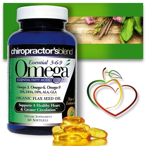 Essential Blend Omega 750 Advanced<br>with EPA, DHA, Flax Seed, GLA, CLA and CoQ10<br>Monthly Auto-Ship Advantage