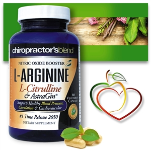 L-Arginine L-Citruline and Astragin®<br>Supports Healthy Blood Pressure<br>Circulation & Cardiovascular