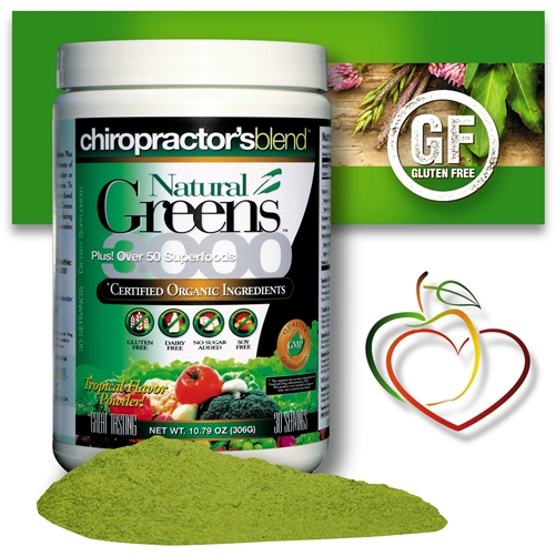 <strong>NEW!! NATURAL GREENS 3000 PLUS SUPER FOOD!! <br>Tropical Flavor</strong> With Over 50 Superfoods!