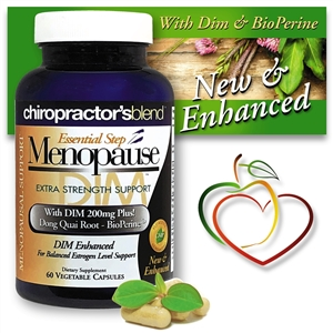 <strong>New & Enhanced! Essential Step Menopause-Dim 200 Advanced</strong><br><i>With a unique blend of herbs and botanicals!</i>