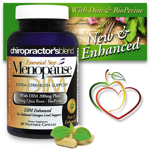 <strong>Essential Step Menopause-Dim 200 Advanced </strong><br>New & Enhanced! All Natural Menopausal Support </strong><br><i>With a unique blend of herbs and botanicals!<br> Monthly Auto-Ship Advantage</i>