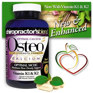 <strong>New & Enhanced! Osteo Bone Complex 4000</strong><br>Now with Vitamin K1 & K2 - Powerful MCHC &<br>2:1 Calcium to Magnesium Ratio