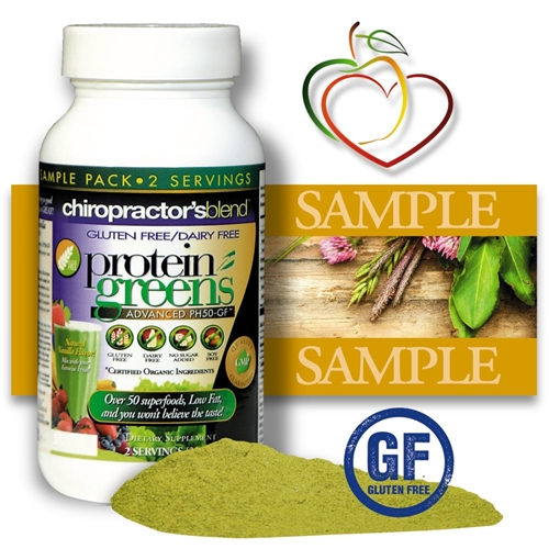 <strong>New! GLUTEN FREE-DAIRY FREE PH50-GF Protein Greens Advanced!<BR><i>With Pea Protein, Brown Rice Protein and Hemp Protein!<BR>Natural Vanilla Flavor - Nature's Superfood</strong></i><br>FREE SAMPLE SIZE