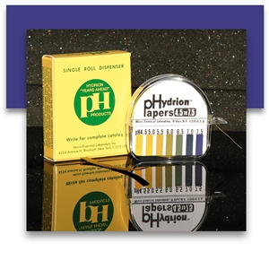 <strong>pHydrion PH Paper 4.5 - 7.5</strong><br><i>Provides approximately 100 tests!</i>