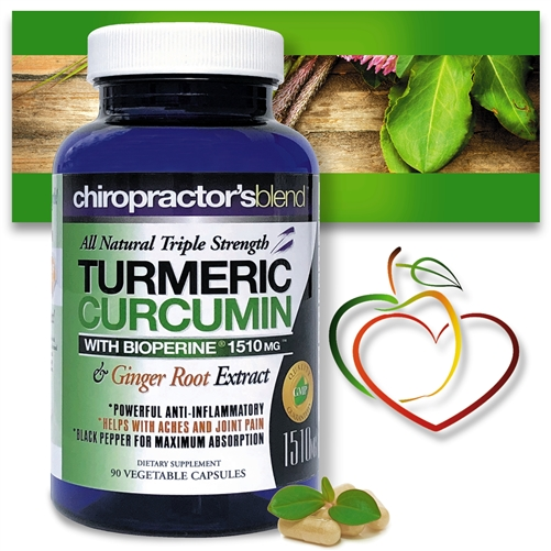 <Strong>All Natural Triple Strength Turmeric Curcumin with BioPerine 1510 mg<strong>
