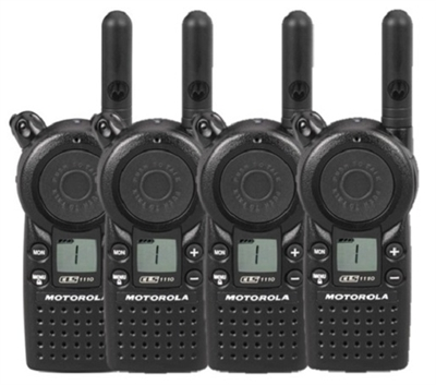 Motorola CLS1110 4 Pack Radio Bundle