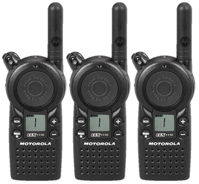 Motorola CLS1110 3 Pack Two Way Radio Bundle