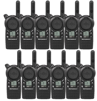 Motorola CLS1110 12 Pack 2-Way Radio Bundle