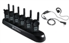 Motorola CLS1410 Bundle - 6 Radios, 6 Earpieces, 6-Bank Charger