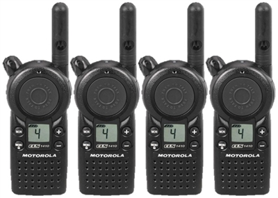 Motorola CLS1410 4 Pack Two Way Radio Bundle