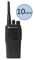 Motorola CP200d Two Way Radio Walkie Talkie 10 Pack Bundle