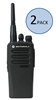 Motorola CP200d Two Way Radio Walkie Talkie 2 Pack Bundle