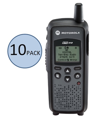 Motorola DTR410 10 Pack Two Way Radio Bundle