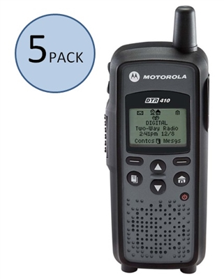 Motorola DTR410 5 Pack Two Way Radio Bundle