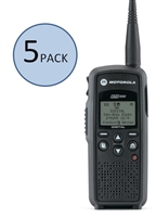 Motorola DTR550 5 Pack Two Way Radio Bundle