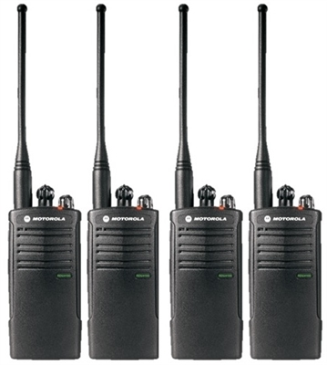 Motorola RDU4100 4 Pack Two Way Radio Bundle