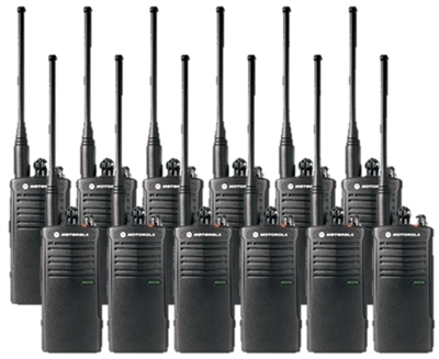 Motorola RDU4100 12 Pack Two Way Radio Bundle