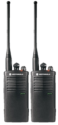 Motorola RDU4100 2 Pack Two Way Radio Bundle