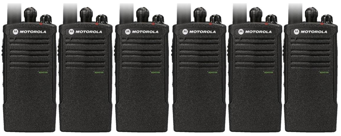 motorola two way radios. motorola rdv5100 two way radio 6 pack radios