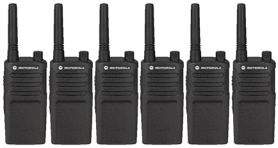Motorola RMM2050 MURS Two Way Radio 6 Pack