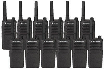 Motorola RMM2050 12 Pack Two Way Radio Bundle