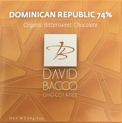 74% DOMINICAN REPUBLIC ORGANIC BITTERSWEET CHOCOLATE