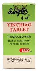 Yinchiao Tablet supports the immune system during times of stress from colds and flu.