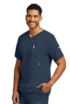"Barco Grey's Anatomyâ""¢ - Men's 3 Pocket High V-neck Scrub Top. 0107"