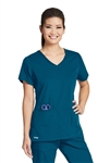 GREY'S ANATOMY ACTIVE™ - Women's 4 Pocket Crossover V-neck Scrub Top. 41423