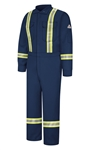 Bulwark - Flame-Resistant Premium Coverall with Reflective Trim. CNBT