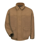 Bulwark - Flame-Resistant Brown Duck Lined Bomber Jacket. JLB8