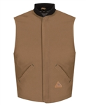 Bulwark - Flame-Resistant Brown Duck Vest Jacket Liner. LLS2