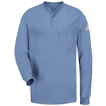 Bulwark - Men's Long-Sleeve Flame-Resistant Tagless Henley Shirt. SEL2