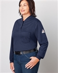 Bulwark - Women's Flame-Resistant Long-Sleeve Henley Shirt. SEL3
