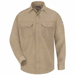 Bulwark - Flame-Resistant 4.5 oz Snap-Front Uniform Shirt. SNS2