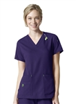 Carhartt Scrubs - CROSS-FLEX Women's V-Neck Media Top. C12110
