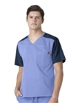 Carhartt Scrubs - Men's Ripstop Color Block Utility Scrub Top. C14108