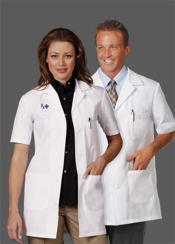Fashion Seal - Unisex Short Sleeve Lab Coat. 3409