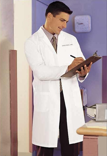 "Fashion Seal - 41"" Men's Knee Length Lab Coat. 485"