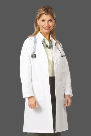 "Fashion Seal - Ladies' 39.5"" Traditional Length Lab Coats. 486"
