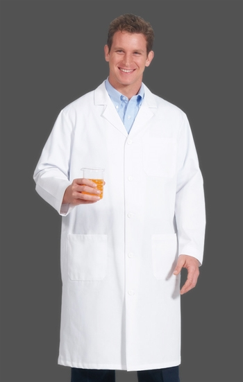 "Fashion Seal - 45"" Men's Extra Long Lab Coat. 6499"