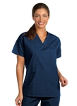 Fashion Seal - Unisex Navy FP Rev Scrub Shirt Set. 6694