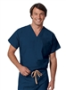 Fashion Seal - Unisex Reversible Navy Set-In Sleeve Scrub Shirt - TALL. 6802