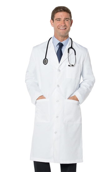 "Landau - Traditional Men's 43.5"" Lab Coat. 3140"