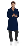 "Landau - Women's 38"" Navy Lab Coat. 3155"