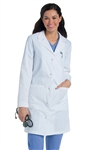 "Landau - Women's Knot Button 36.5"" Lab Coat. 3172"