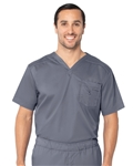 Landau - Men's Stretch V-Neck Scrub Top. 4098